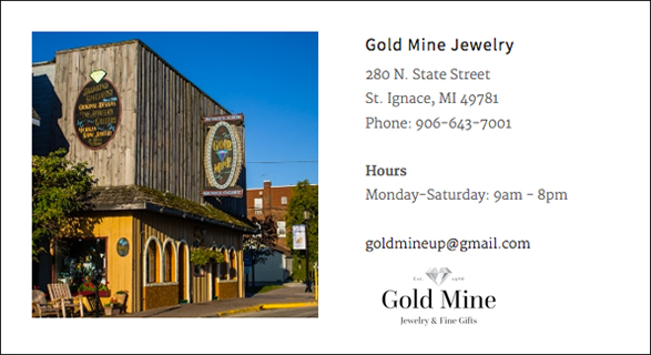 GOLD MINE JEWELRY & FINE GIFTS, MICHIGAN